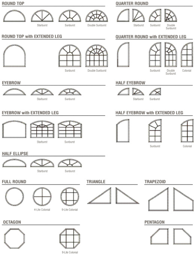 Special Shape Windows